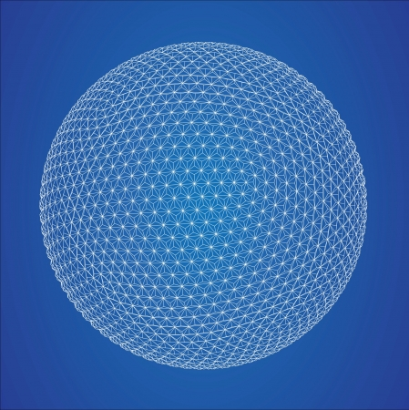 grid: Wireframe spheres  Illustration
