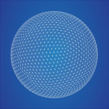 grid: Wireframe spheres  Illustration