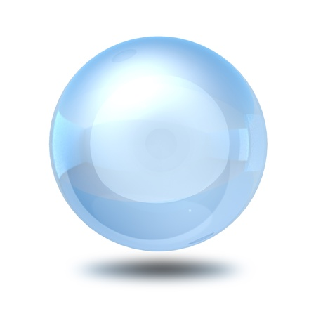 scrying: sphere glass ball  Stock Photo