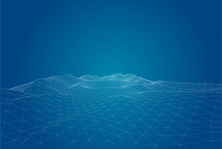 latitude: 3D wireframe of contour swirl  Illustration