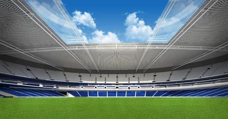 Sports background - green stadium