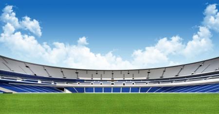 Sport achtergrond - groene stadion