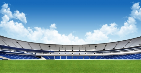 football stadium: Sports background - green stadium