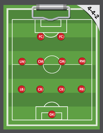 soccer strategy formation type Illustration