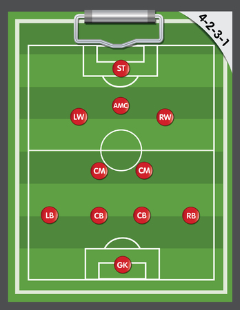 soccer coach: soccer strategy formation type Illustration