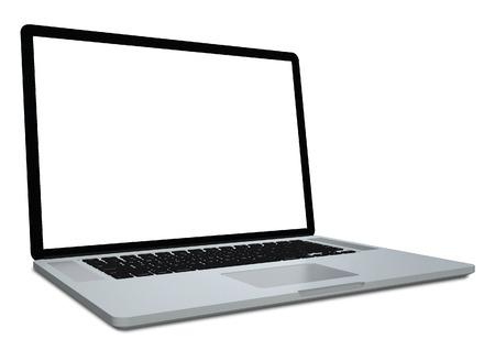 3d laptop isolated on white background  photo