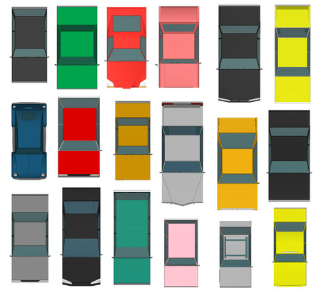 motor de carro: Conjunto de varios coches 3d aislados