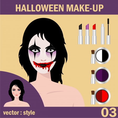 face paint: Halloween concept   Beautiful young woman in day of the dead mask skull face art  Halloween face art