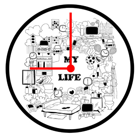 lunch time: Time concept   life all day stories