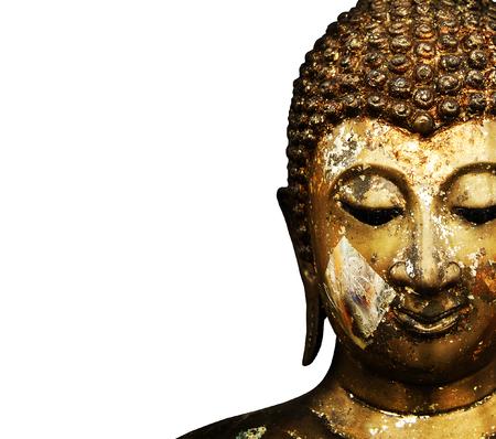 cabeza de buda: Buda Face Grunge Foto de archivo
