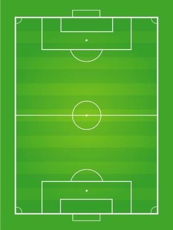 Soccer field and soccer ball - Vector illustration  Ilustração
