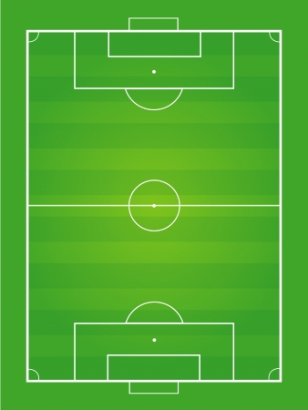 Soccer field and soccer ball - Vector illustration Imagens - 22951117