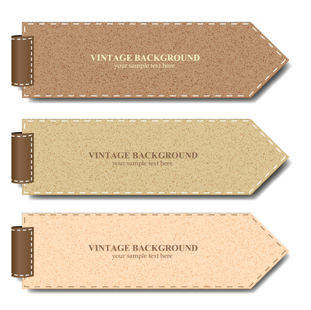 Vintage paper set for banner or product promotion - Vector illustration  Illustration