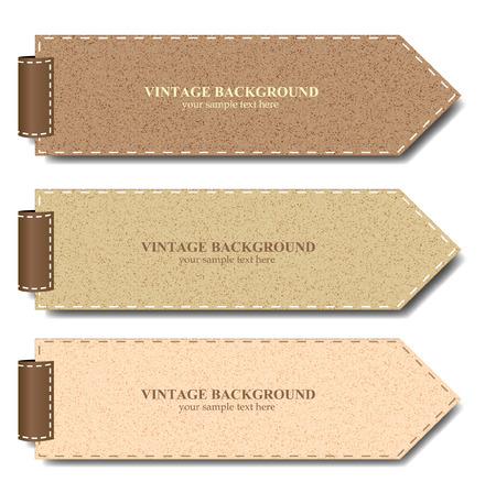 Vintage paper set for banner or product promotion - Vector illustration  Ilustração