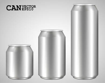 fizzy: aluminum cans isolated on white  ideal for beer, lager, alcohol, soft drink, soda, fizzy pop, lemonade, cola, energy drink, juice, water etc  Drawn with mesh tool  Fully adjustable   scalable