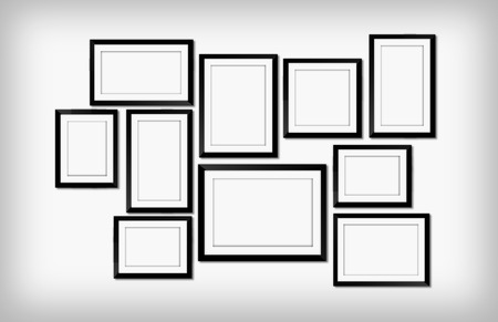 picture frame on wall: picture frames on wall