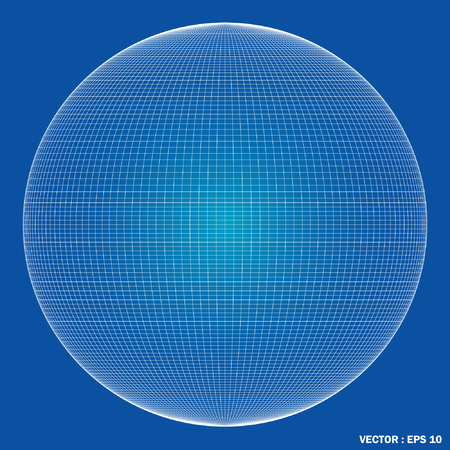 Wireframe spheres  3d  Vector