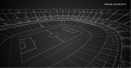 housing project: 3D wireframe of stadium