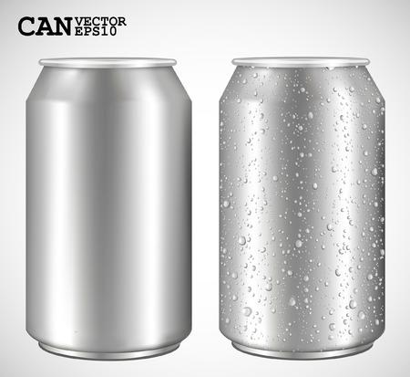 Les canettes en aluminium, vecteur réaliste