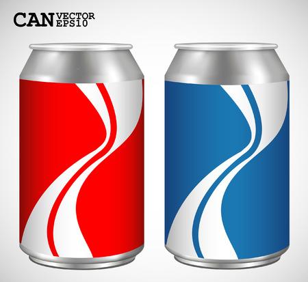 Aluminum cans, Realistic vector  Vector