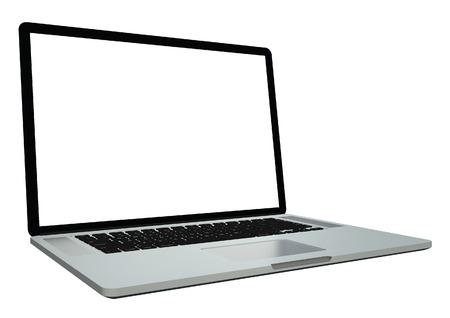 isolated  white: Computer portatile isolato su sfondo bianco