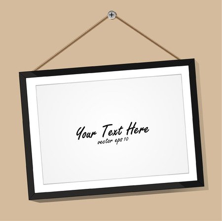 3D picture frame design vector for image or text  Vector