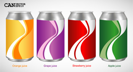 recycling bottles: Aluminum Can  Vector Version Illustration