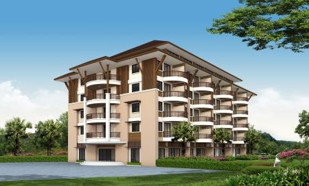 Rendu 3D de bâtiment Banque d'images - 25407732