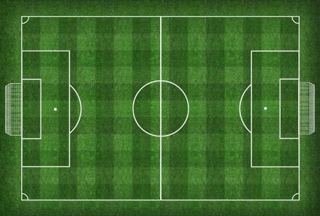 A realistic textured grass football   soccer field