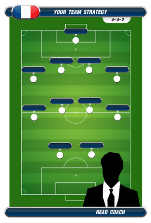 soccer playing field with strategy elements   Vector