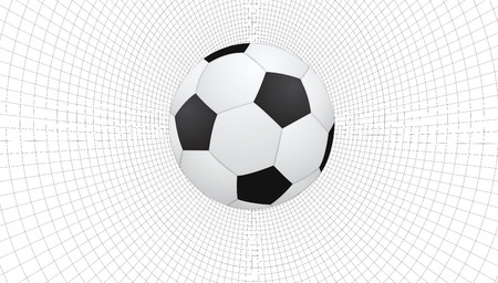 soccerball: soccer ball on abstract wireframe background, vector