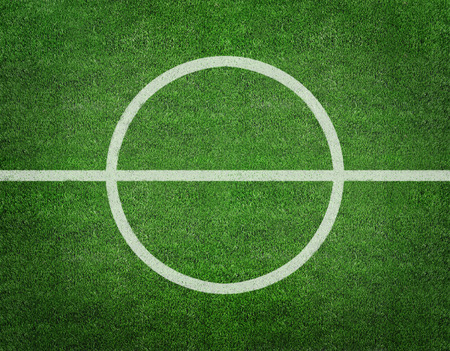 Soccer football field stadium grass line ball background texture light shadow on the grass photo