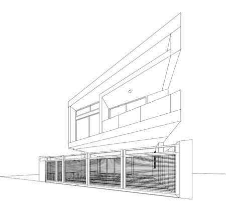 3D Skizze Des Bürogebäudes Lizenzfreie Fotos, Bilder Und Stock ...