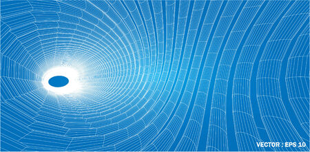 3D wireframe of contour swirl  Stock Photo