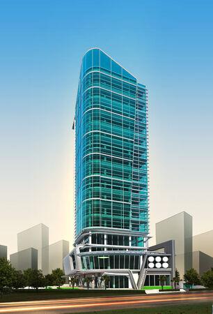 Rendu 3D de bâtiment