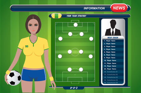 offside: Girl with soccer strategy elements