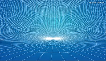 longitude: 3D wireframe of contour swirl  Stock Photo
