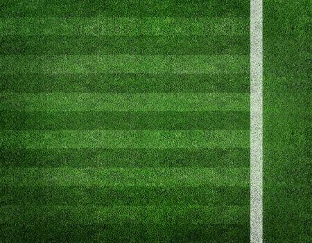 Soccer football field stadium grass line ball background texture light shadow on the grass  photo