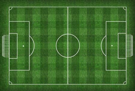 Soccer field and soccer ball - illustration  illustration