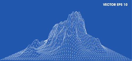 contour: 3D wireframe of contour swirl Illustration