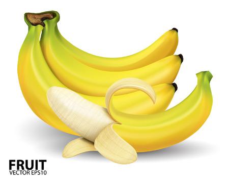 banana: banana on white background.vector Illustration
