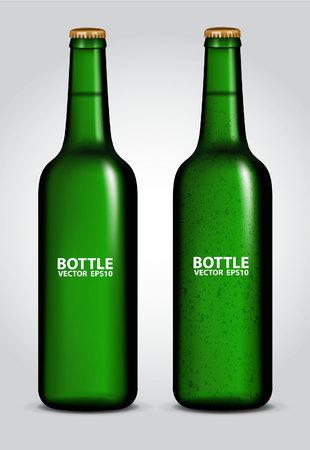tipple: blank glass beer bottle for new design Illustration