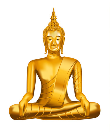 stone buddha: Buddha. vector