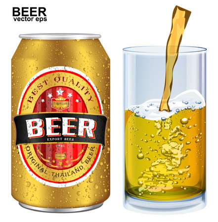 low prizes: Beer Label vector visual on aluminum drinks can