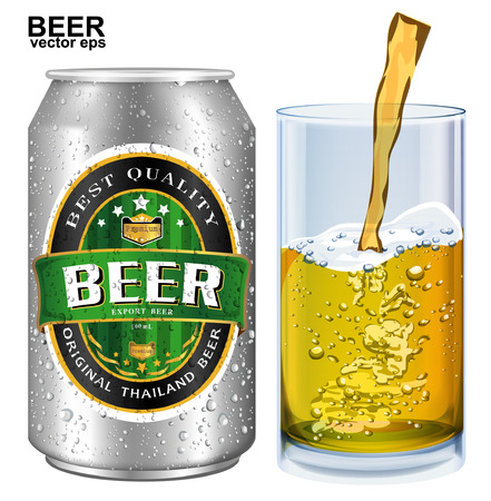 beer label: Beer Label vector visual on aluminum drinks can, ideal for beer, lager, ale, stout etc. Can drawn with mesh tool. Fully adjustable & scalable.