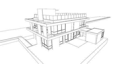 Rsum de rendu 3d de la maison filaire vector illustration clip art 3d filaire de limmeuble malvernweather Choice Image