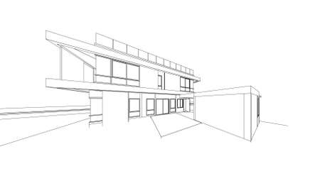 architects: 3d wireframe of building