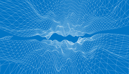 rural area: 3D wireframe of contour swirl Illustration