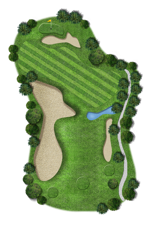 fairway: Perfect Green grass on a golf field
