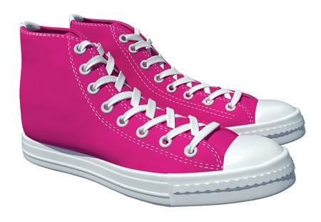 vintage shoes on white background for design. 3d render photo